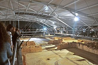 Palace of Nestor - The site with new roof