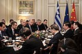 Ο ΥΠΕΞ Ν. Δένδιας στις διευρυμένες συνομιλίες αντιπροσωπειών Ελλάδας& Κίνας (49049738902).jpg