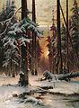 Зимний закат в еловом лесу.jpg