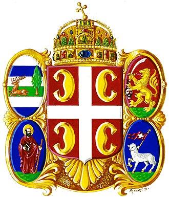 Coat of arms of Vojvodina - Image: Историјски грб Српске Војводине из 1848
