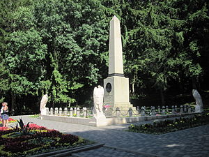 Pyatigorsk - The monument marks the place of Lermontov's duel