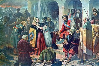 Pugachev's Rebellion - Vasily Perov, Pugachev's Court (1879 variant; Russian Museum, Saint-Petersburg).