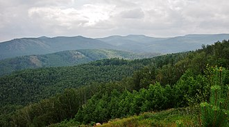 Ural Mountains - Wooded Ural Mountains