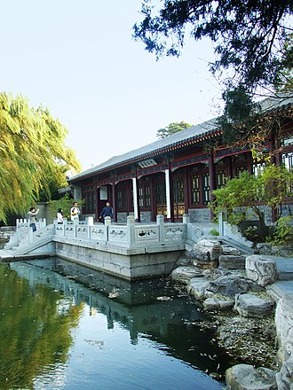 Tsinghua University - The traditional He Tang Yue Se (moonlit pond) is part of the Qing Dynasty Prince's Residence and Garden located on the grounds of Tsinghua University