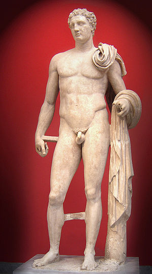 Lysippos - Hermes of Atalante, a Roman marble copy of a lost bronze attributed to Lysippos (National Archaeological Museum of Athens)