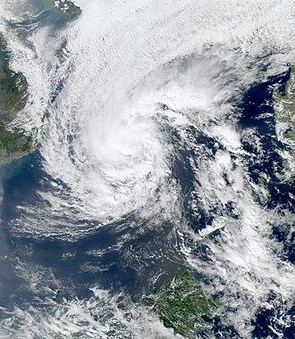 2008 Pacific typhoon season - Image: 01W Jan 14 2008 0535Z