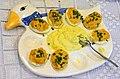 02014. Ostereier zum Frühstück, Beskiden, Zagorz.JPG