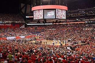 Lucas Oil Stadium - Lucas Oil Stadium configured to host the 2015 NCAA Men's Basketball Final Four.