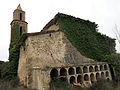 044 Sant Miquel de Marmellar, vista posterior i cementiri adossat.JPG