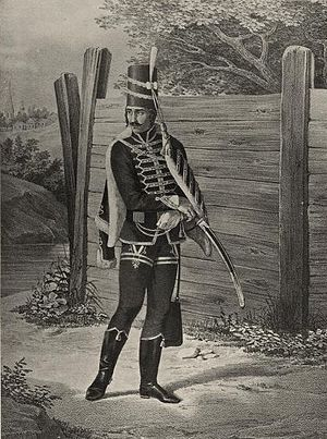 "Wachtmeister - Hungarian ""Wachtmeister"", hussar-regiment 18th century."