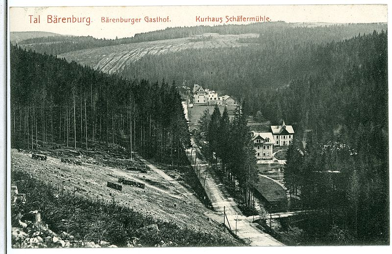 File:06226-Bärenburg-1905-Bärenburger Gasthof - Kurhaus Schäfermühle-Brück & Sohn Kunstverlag.jpg