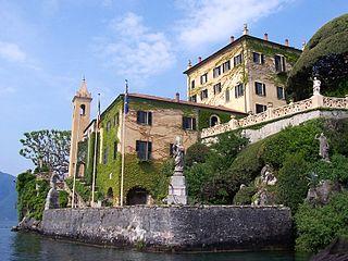 Villa del Balbianello building in Lenno, Italy