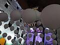 091 Llum BCN, instal·lació Suspès, plaça del Rei.JPG