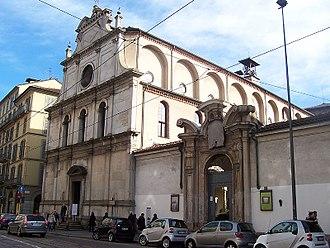 San Maurizio al Monastero Maggiore - Façade of the church.