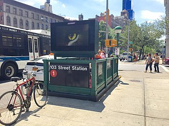 103rd Street (IRT Broadway–Seventh Avenue Line) - NW corner stairs
