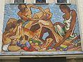 1220 Wagramer Straße 164-168 Stg 5 - Mosaik-Supraporte Sandkasten von Josef Lacina 1960 IMG 8476.jpg