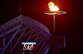 141100 - Paralympic Flame cauldron alight 2 - 3b - 2000 Sydney cauldron photo.jpg