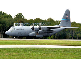 Delaware Air National Guard - Image: 142d Airlift Squadron Lockheed C 130H LM Hercules 84 0210