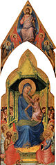 La Vierge et l'Enfant sur un trône