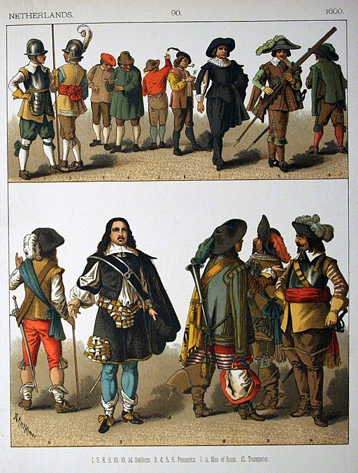 1600, Netherlands. - 090 - Costumes of All Nations (1882)