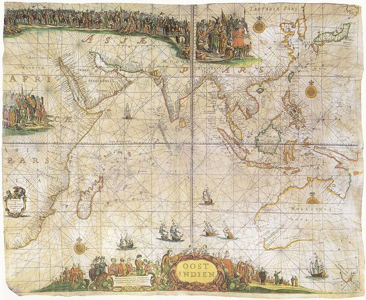 Carta nautica di Pieter Goos