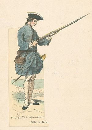 Siege of Bergen op Zoom (1747) - French soldier of the Régiment de Normandie 1740s