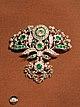 1760 diamond and emerald paste brooch set in silver (39023829655).jpg
