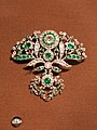 1760 diamond and emerald paste brooch set in silver (39023829655).jpg