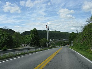 Pennsylvania Route 867 - PA 867 approaching its northern terminus at PA 36/PA 164