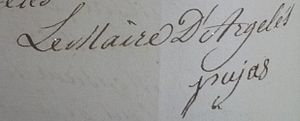 Argelès-sur-Mer - Signature of mayor Paul Pujas in 1815.