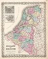 1855 Colton Map of Holland and Belgium - Geographicus - HollandBelgium-colton-1855.jpg