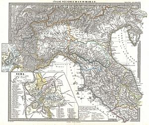 1865 Spruner Map of Northern Italy in Antiquity - Geographicus - ItaliaeIIII-spruner-1865.jpg