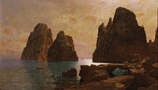 1870s, Haseltine, William Stanley, Isle of Capri, The Faraglioni.jpg
