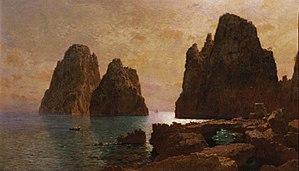 William Stanley Haseltine - Image: 1870s, Haseltine, William Stanley, Isle of Capri, The Faraglioni