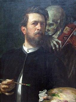1872 Boecklin Selbstbildnis mit fiedelndem Tod anagoria
