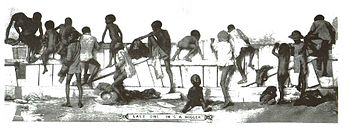 English: A racist drawing of blacks in the 189...