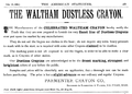 1892 Parmenter Crayon ad Waltham Massachusetts.png