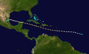 1903 Jamaica hurricane - Image: 1903 Atlantic hurricane 2 track