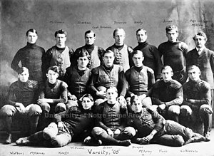 1905 Notre Dame football team - Image: 1905 Notre Dame football team