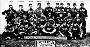 1913 Chicago Cubs, baseball card portrait