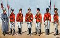 1916 - Armata Romaniei - Uniforme de ofiteri de rosiori din primul Razboi Mondial.png
