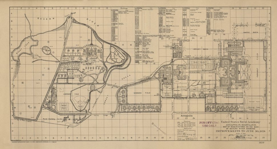 1924 Map of US Naval Academy
