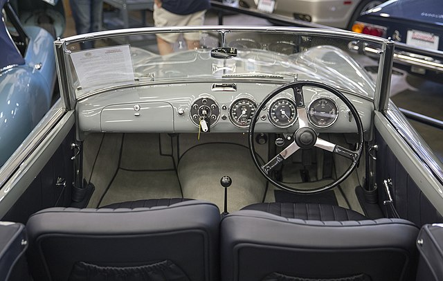 File 1954 Aston Martin Db2 4 Drophead Coupé By Graber Dashboard Jpg Wikimedia Commons