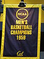 1959 Cal men's basketball team national championship banner.JPG