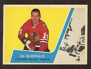 Ab McDonald - Image: 1963 Topps Ab Mc Donald