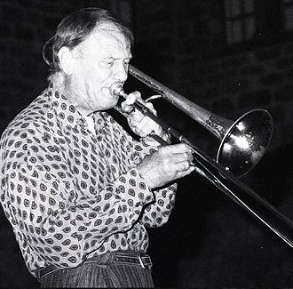 Albert Mangelsdorff - Albert Mangelsdorff performing in 1992