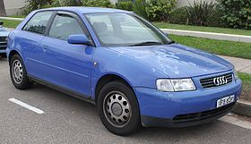 1997 Audi A3 (8L) 1.6 3-door hatchback (26381040274).jpg