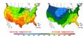 2002-09-27 Color Max-min Temperature Map NOAA.png