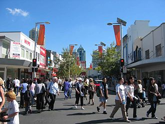 Chatswood, New South Wales - Victoria Ave and Archer St, view towards Chatswood Station