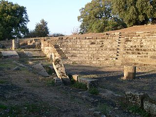 Tusculum ancient Latin and Roman city and archeological site in the Alban Hills of Latium, Italy